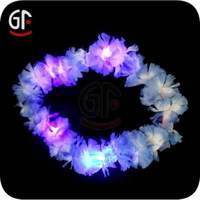 Graduation Decoration Led Flashing Handmade Flower Necklace