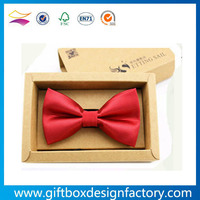 Cheap kraft paper bow tie gift box