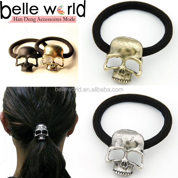 Cool Punk Style Skull Hair Tie for Women Men
