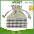 customized 10 ounce thick natural cotton canvas lace pvc shopping drawstring cord bag