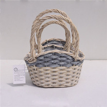 Wholesale wicker craft supplies plastic lined willow baskets with handles
