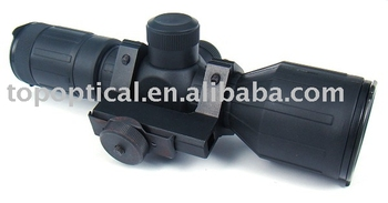 riflescope with red dot