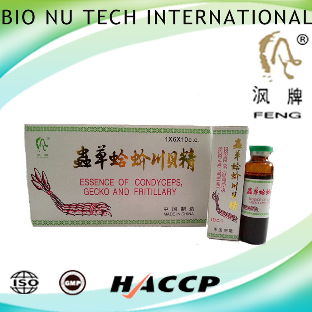 Herbal Medicine Oral Liquid Essence of Condyceps,gecko and fritillary