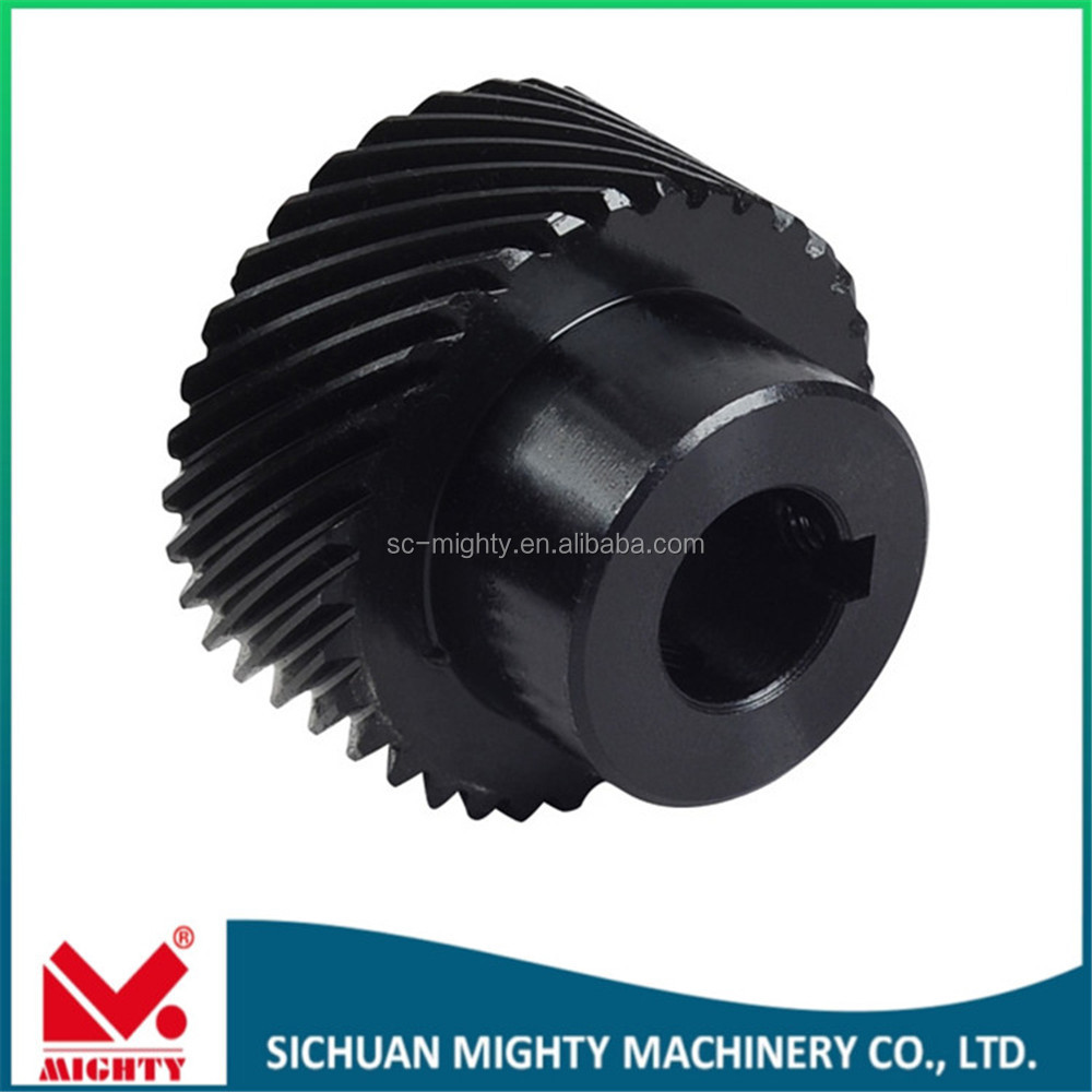 operating table gear helical gear in black treatment