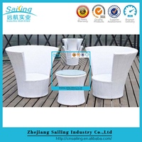 Patio Easy Cleaning Wicker Coffee Table And Chair Set