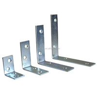 Small galvanized steel metal cantilever shelf bracket