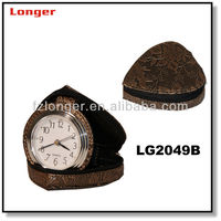 Promotional folding travel alarm clock mini table desk clock