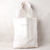 Eco 100% cotton fabric plain color tote bag