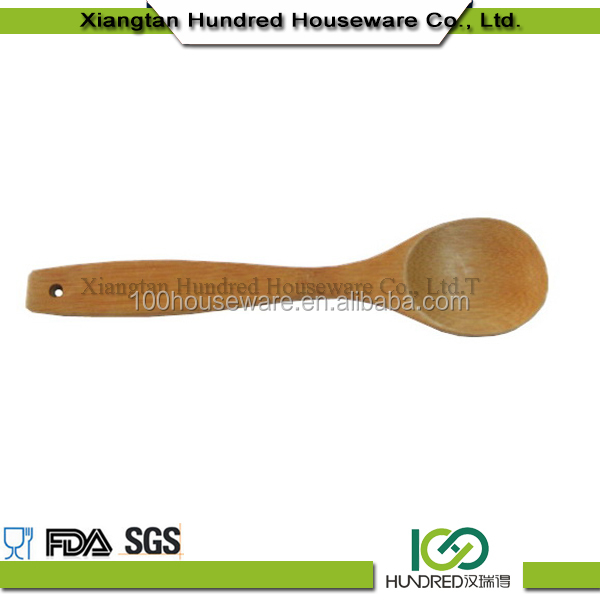 Wholesale small flat bottom salt spoon bamboo small spoon