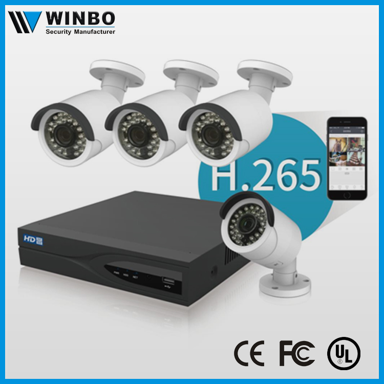 2017 H.265 2MP POE NVR KIT CCTV Camera from winbo factory