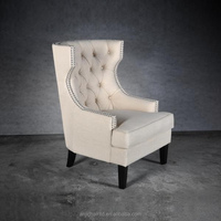 Living Room Fabric Armchair with wing for furniture