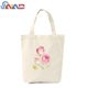 Custom logo printed simple foldable designer waterproof cotton canvas shopping tote bag