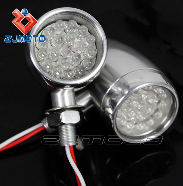 TSL-6317-SR china motorbike accessories Torpedo Polished LED blinker Winker lamp for cruiser bikes , cafe racers and choppers