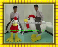 Party cosplay fancy diress costume riding chicken mascot costume easy wear lovely adult riding chicken mascot