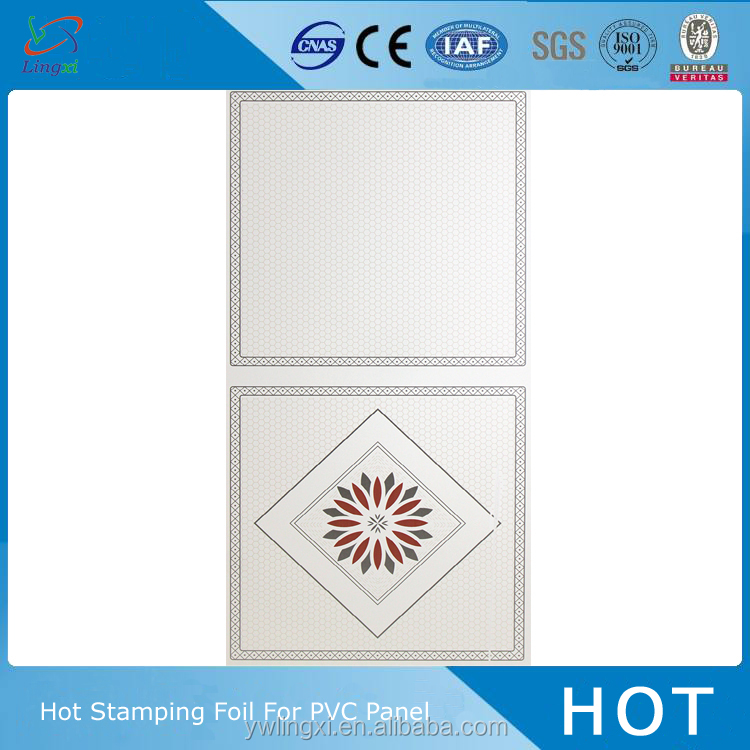 Jinhua new style metal design PVC ceiling panel film pvc full form