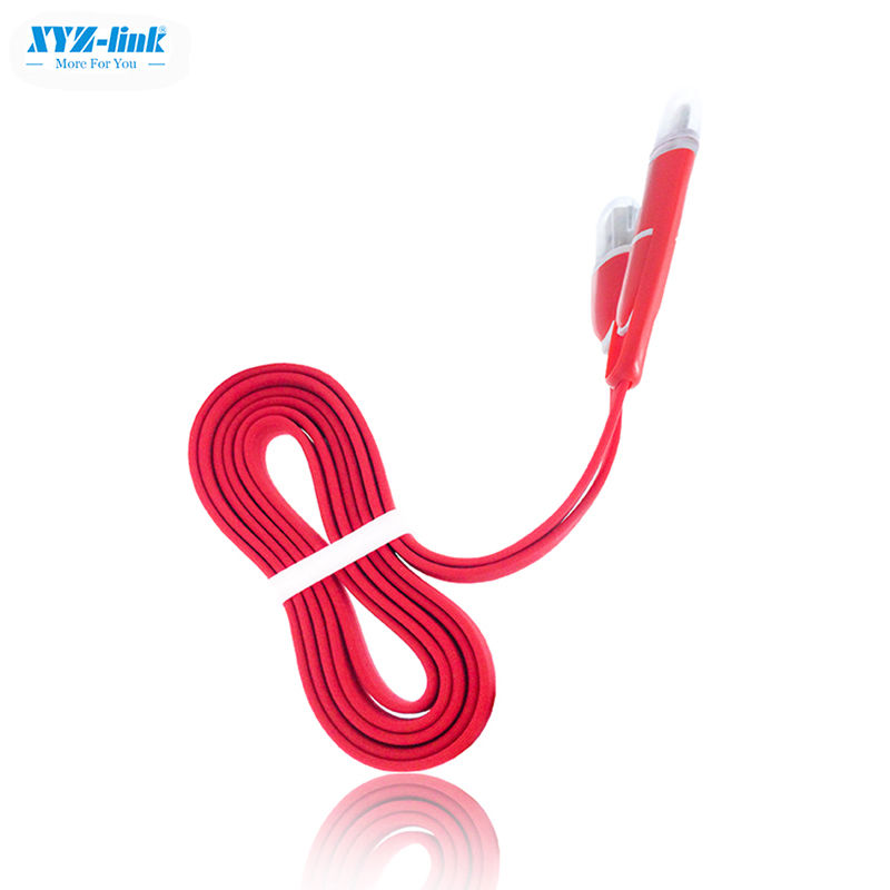Hot wholesale flat electrical 2in1 usb cable price list 2016
