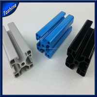 Industrial aluminum profile with powder coating or anodizing