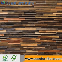 3D Decorative Wooden Wall Panel Sheet for villa decoration