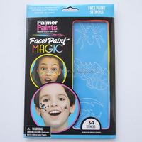 Fashion design face paint stencils