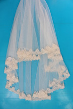 China factory cheap short champagne colored bridal wedding veils