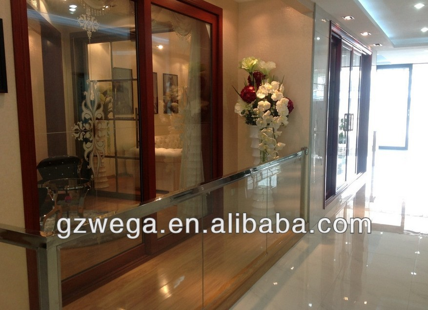 Powder Coated Bullet Proof Aluminum Security Sliding Double Glass Door