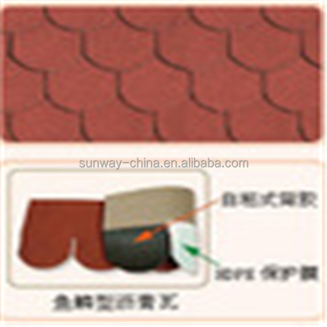 High quality Fish-scale Type Asphalt Shingles in Dertand Tan with best price from China