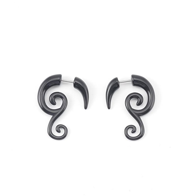Cheap fashion black acrylic fake ear plugs jewelry wholesale