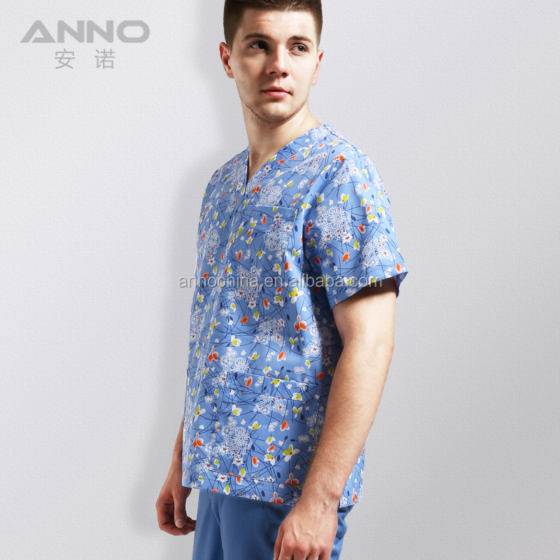 Anno wondreful flower printing medical nursing scrub suits