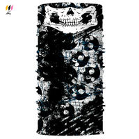 Custom Printed 35 g/pcs 140 gsm UV Protect Neck Warmer Ski Motorcycle Biker Seamless Skull Tube Mask Bandana