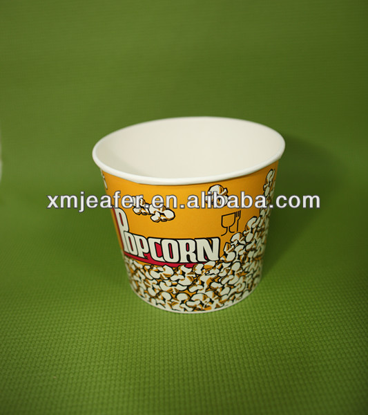2013 Hot sell 85oz eco-friendly custom logo printed paper popcorn buckets