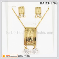 Special square pendant jewelry True religious Jewelry sets African wedding dresses for women