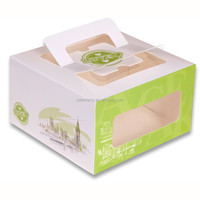 customized color printed birthday bake cake paper storage boxes with clear plastic window
