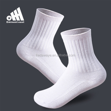 Customized seamless cotton white school socks