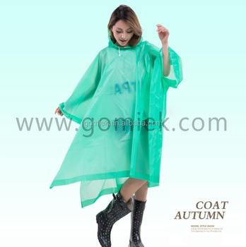 China new design waterprooof non-disposable raincoat