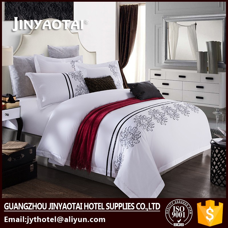 2016 new design ribbon embroidery bedding set