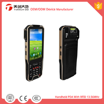 Customizable Portable and Handheld PDA RFID 13.56MHz /Barcode Scanner