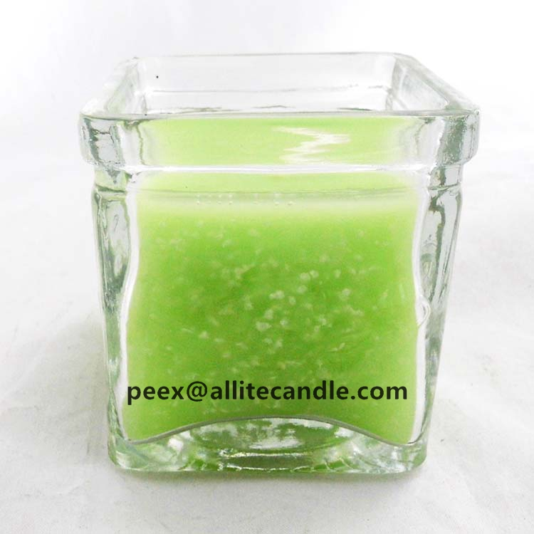 beautiful glass candles holders wholesale small scented tin glass candle jar with beeswax AG2032