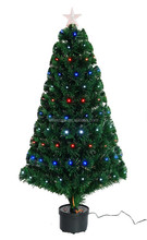 2015 artificial multi color led fiber optic christmas tree with star topper