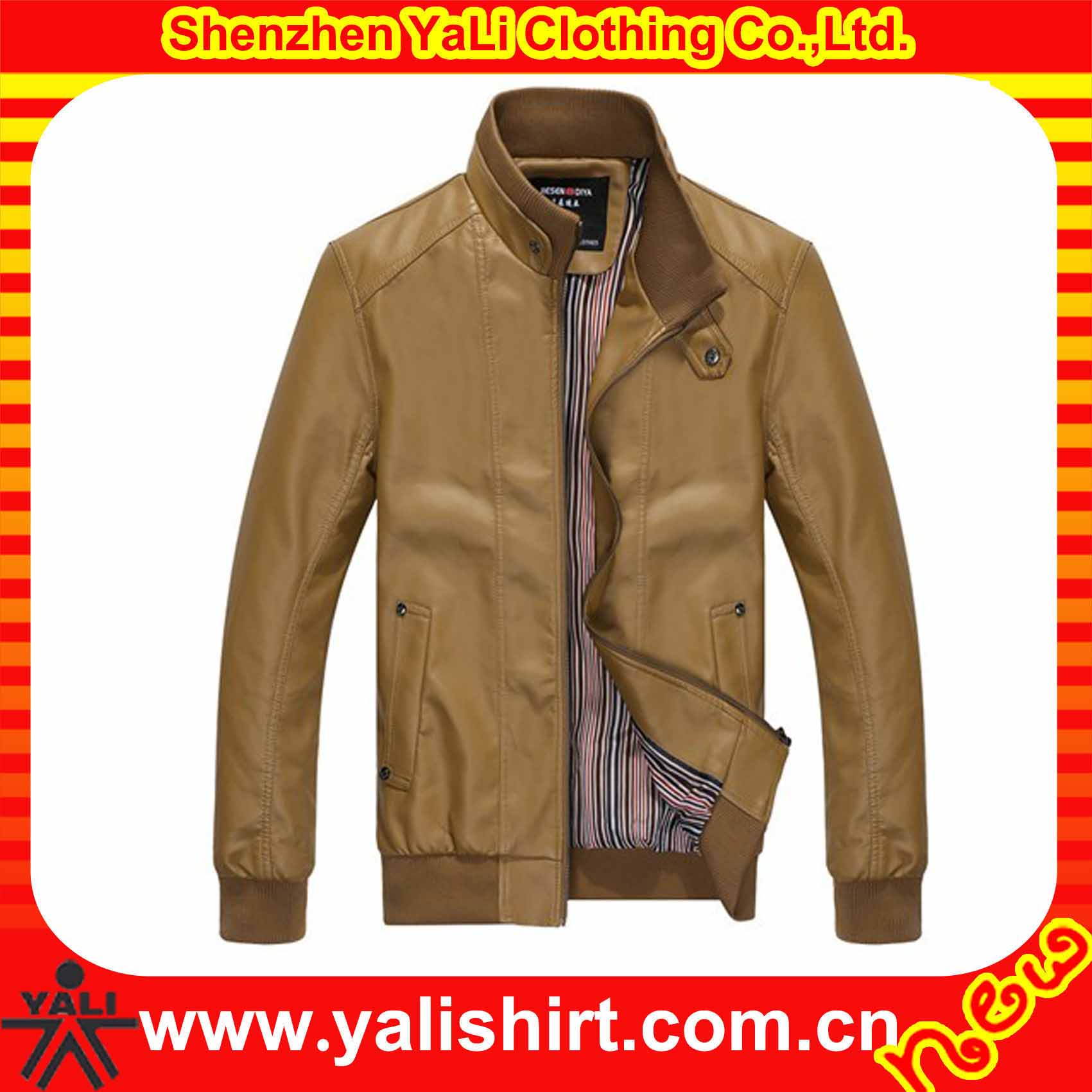 Fashion top quality windproof warm fitness PU leather jackets wholesale men's apparel