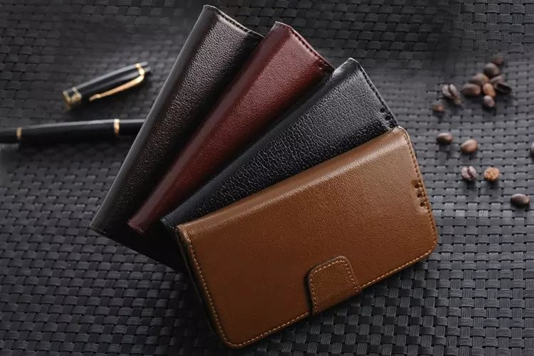 Gliiter Genuine Real Yak Leather Case For Samsung Galaxy S4 Cover Litch Mobile Cell Phone Case Wallet Stand Accessories