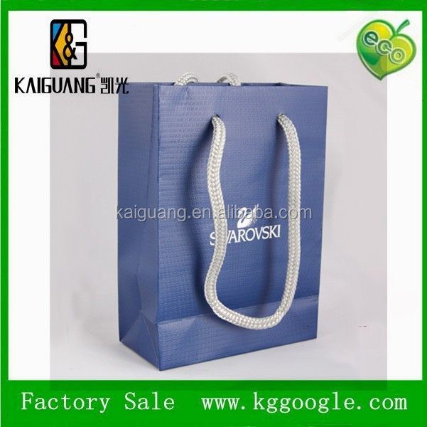 Leather Texture Black Shopping Paper Bag leather paper bag made in china