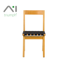Triumph Solid wood design dining chair/garden chair wood american/wood relaxing chair seat with special black rubber belt