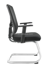 Middle back black glide slide mesh training chair (FOH-XM2D)