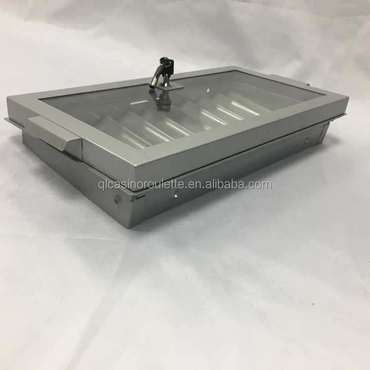 Luxury 500pc new style metal chip box chip tray 10row chip box