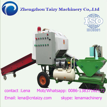 Semi-automatic silage wrapping machine Hay baling machine