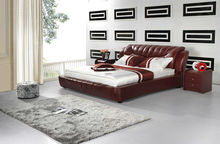 High quality leather bed #8685