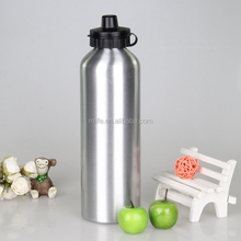 customized design aluminum water bottle with sipper cap
