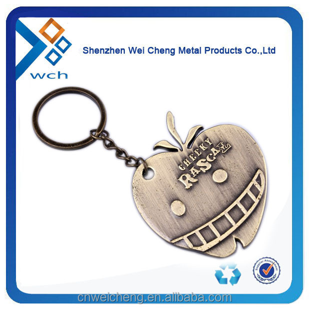 Custom shape metal keychain for promotional