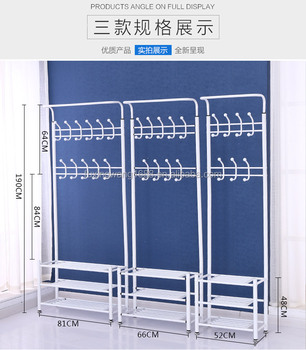 Fashion Heavy Duty Garment Rack with Shelves 3-Tier Shoes Rack,Coat Rack Hooks,Clothes Rack with Hanger Bar