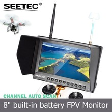 8 inch FPV Photography TFT LCD Monitor HD dual antenna receivers 32 channels 5.8Ghz rc airsoft helicopter for for Ground Station